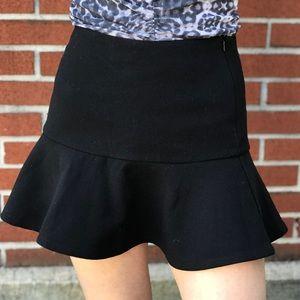 LF Millau Black Peplum Skirt